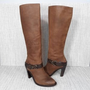Cole Haan Air Tantivy Knee High Leather Boots 6.5